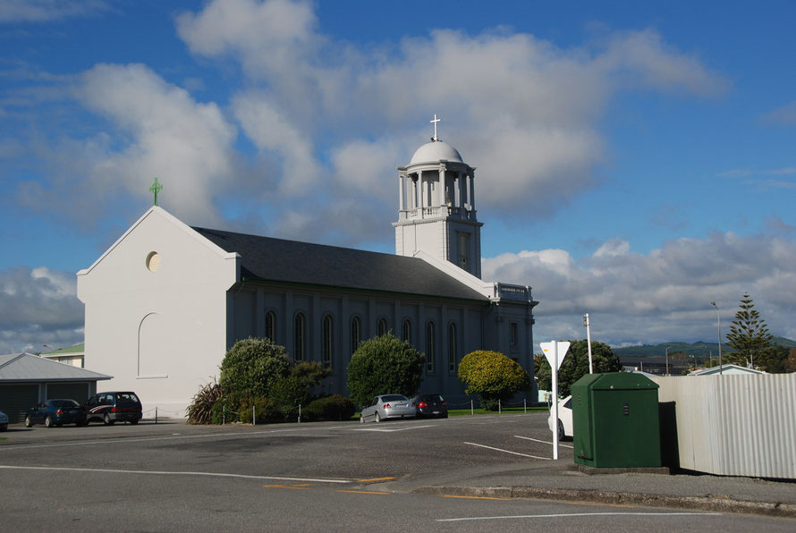 St Mary's Catholic Church, Hokitika. The gold rushes brought in a wave of Irish diggers who changed the demography of the