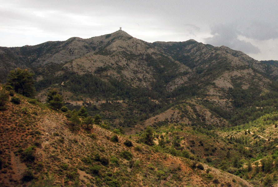 Mount Kionia (1420m) at the eastern end of the Troodos Massif, May 2012