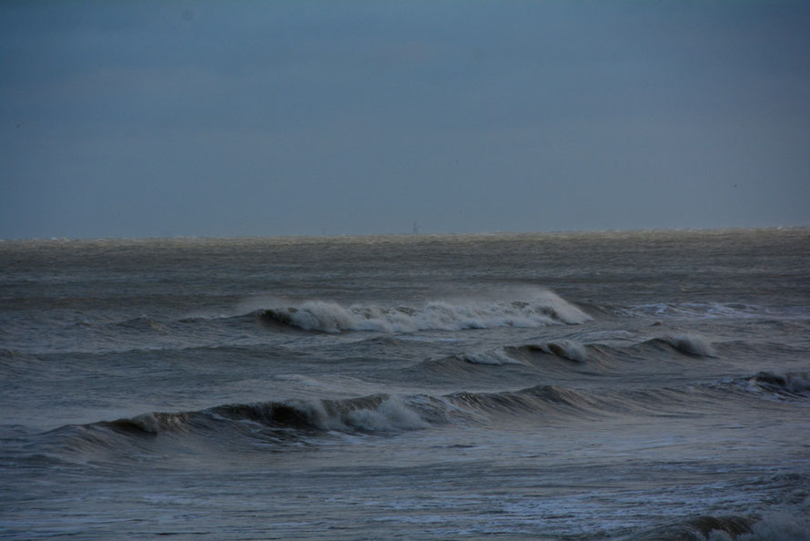 Blowing offshore at the Ness, St Margaret's Bay, November 21 2015.