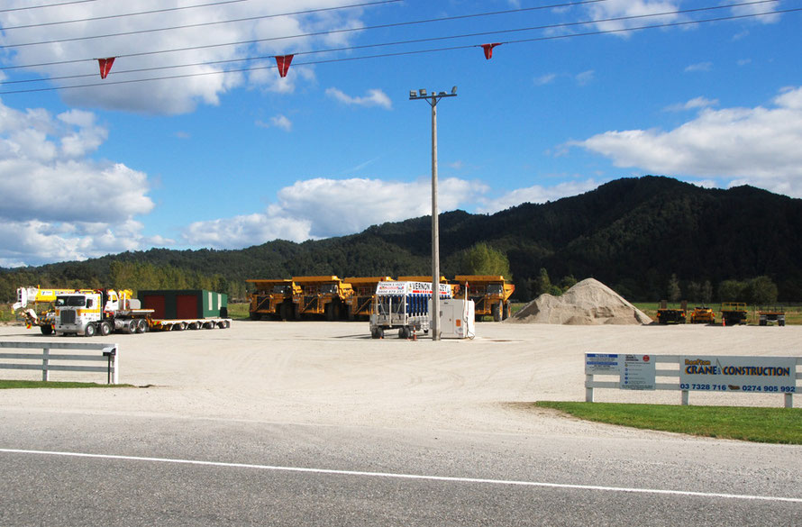 Reefton Crane and Construction servicing the Reefton coal mines