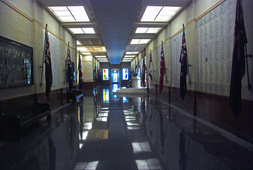 One of the two Halls of Memory on the top floor of the Auckland War Memorial Museum.