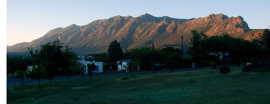 First light on the Langeberg from Montagu West