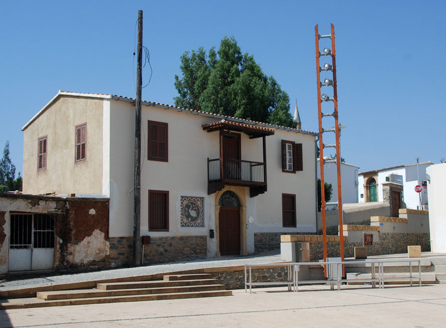 Restored town house, Peristerona House, to be used as cultural centre. Funded by USAid, the UN Development Programme and the Archbishopric of Morpou