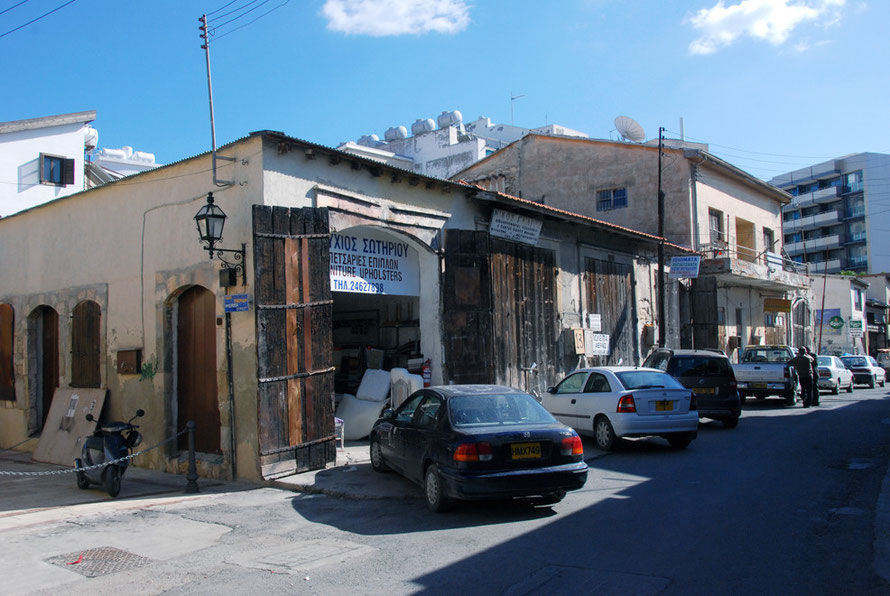 Workshops on the edge of Skala, the old Turkish District of Larnaca