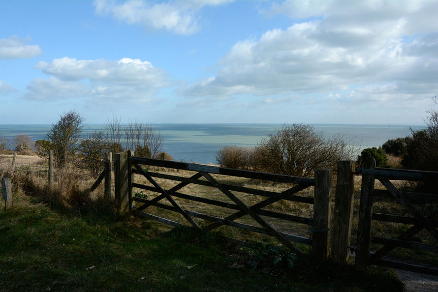 Gate at Windmill Down, South Foreland.