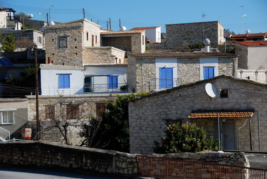 Restored houses in Skarinou