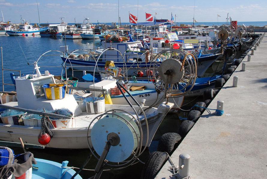Larnaca fishing harbour