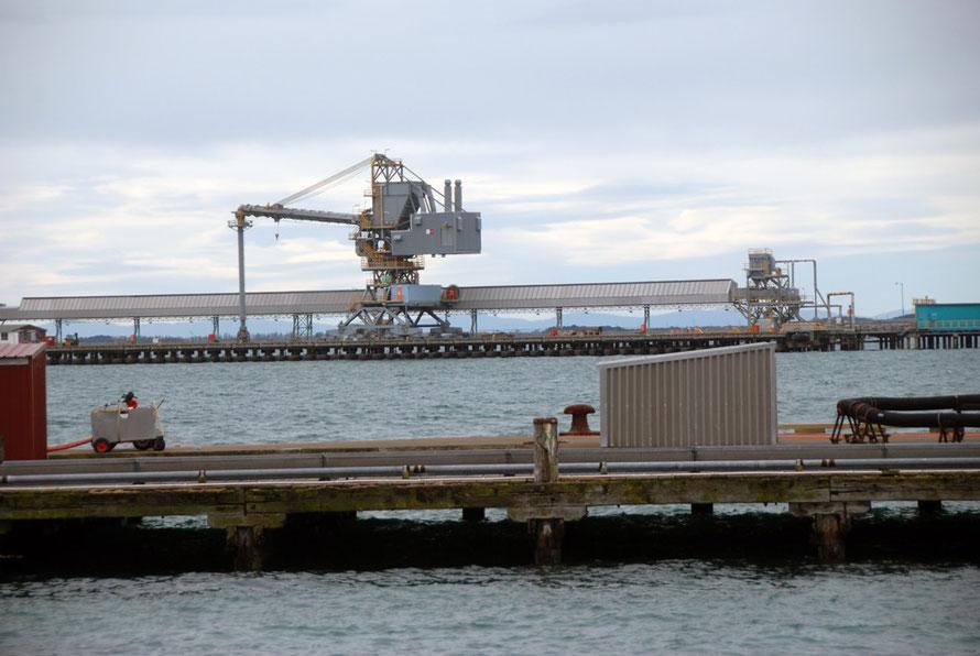 Alumina unlaoding gear, Tiwai Point aluminium smelter, Bluff NZ.