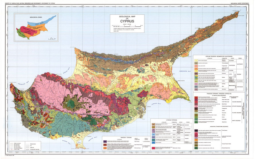 Geological Map of Cyprus: Geological Survey Department
