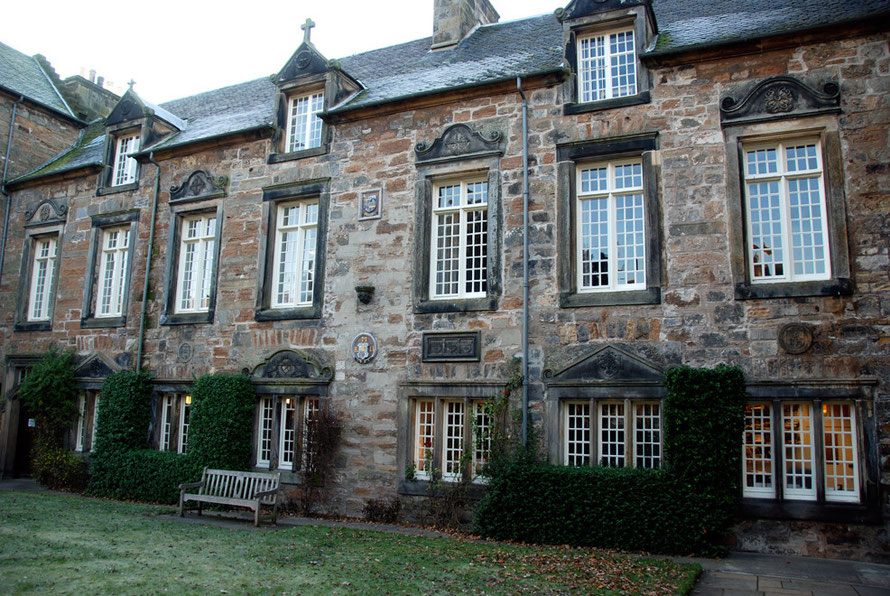 Madras College in St Andrews, Scotland on a freezing cold day in December 2007.  - attended by Walter Traill in the second half of the 19th century and 'The Principal' (my partner) in the 1980s. This