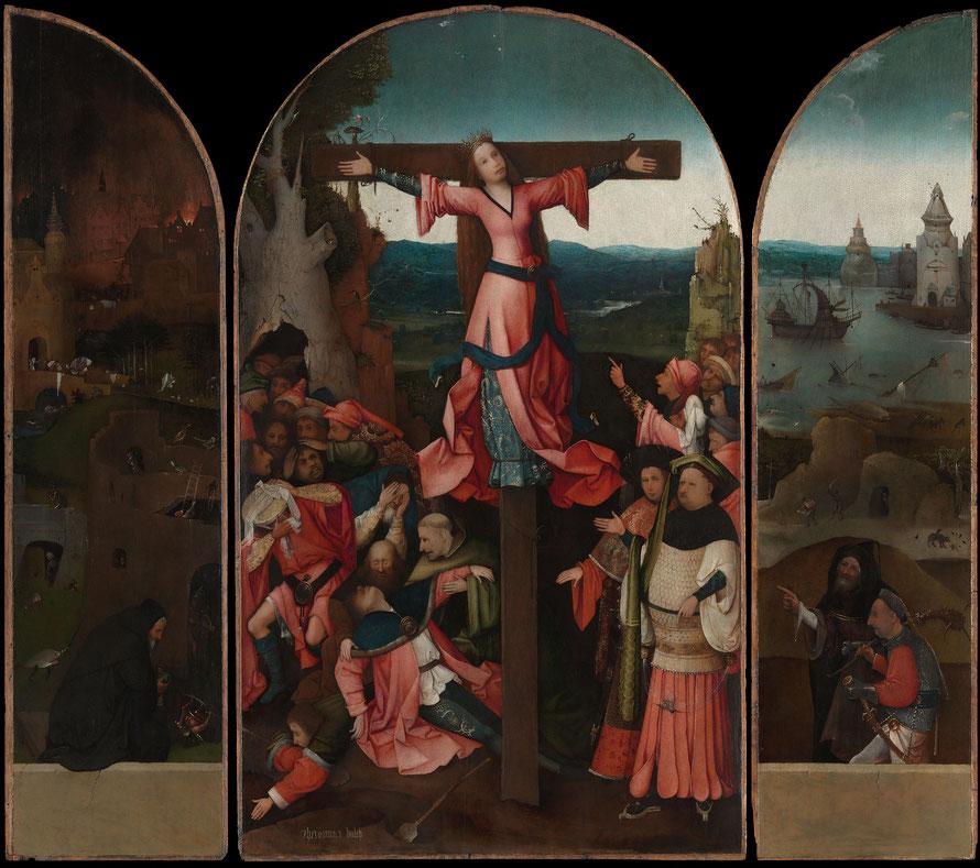Hieronymus Bosch - BoschTheCrucifixionOfStJulia.jpg - ca 1497-1505. Publiek Domein van https://commons.wikimedia.org/wiki