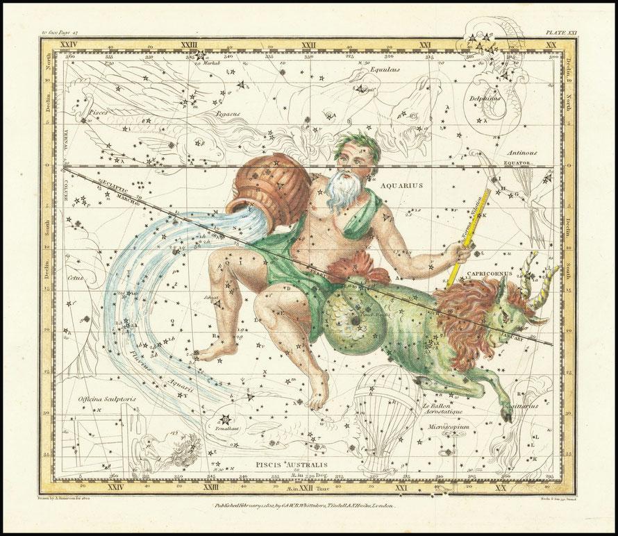 Aquarius & Capricornus - Alexander Jamieson (1822). Public Domain, op 25 januari 2021 via Wikimedia Commons