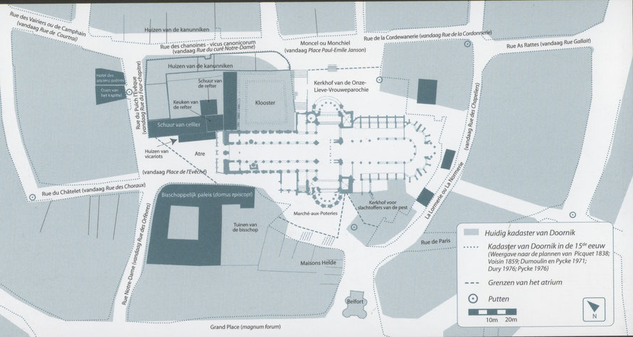 Uit: Mariage, F. (2014). Onze-Lieve-Vrouwe Kathedraal van Doornik. N. Plouvier - Maison du Tourisme de la Wallonie picarde, pg.19.