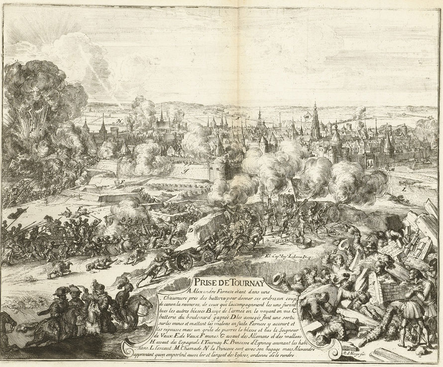 Rijksmuseum Amsterdam - Don Juan de Ledesma (tussen 1670 en 1699). Prise de Tournay (fantasie) - Publiek domein.