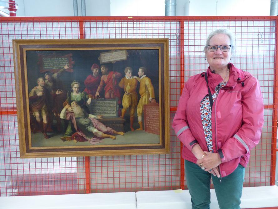 15 augustus 2019 Museum Het Valkhof - Houtpaneel met 'Het Raadsel' uit 1576.