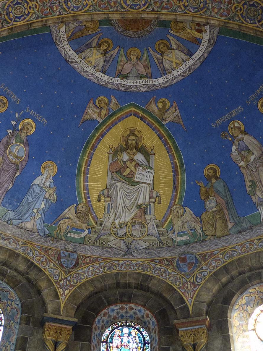 Abdijkerk Rolduc - Hoofdconcha - Jezus Christus: Ik ben het Licht der Wereld