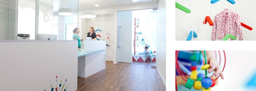 Räume der Kinderarztpraxis Alpenquai