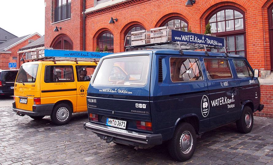 Waterkant Touren Hamburg Bulli T3 Jolante Alltagsabenteurer Alltagsabenteuer Stadtrundfahrt Roadtrip Stadtführung Elbe VW-Bus