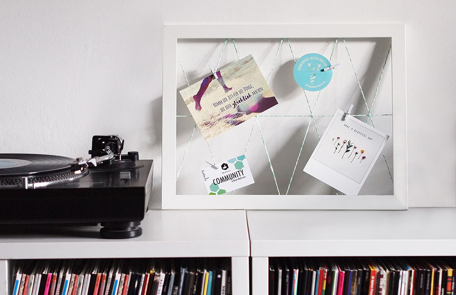 Memo-Board Pinnwand basteln DIY Upcycling Bilderrahmen Interior Wohnen So leb ich Freizeit Freizeitblog Hamburg Alltagsabenteuer Alltagsabenteurer