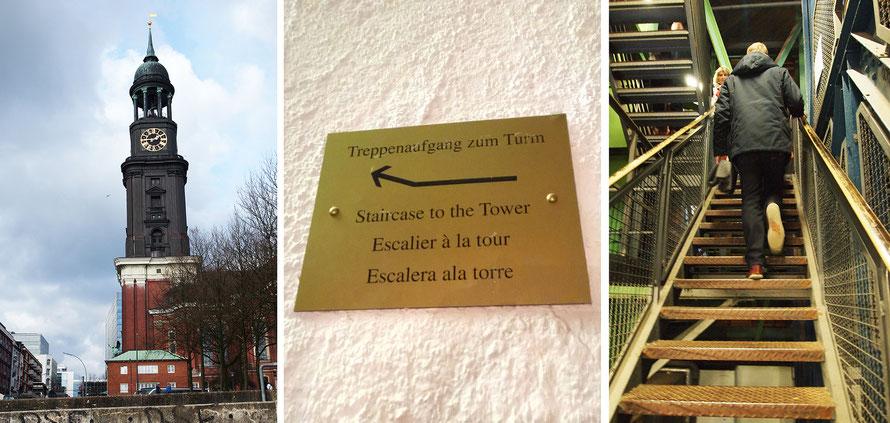 Hamburger Michel Sankt Michaelis Kirche Turm besteigen Treppen Alltagsabenteuer Alltagsabenteurer Freizeit Sonntag