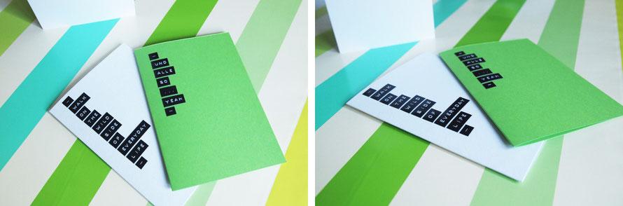 Alltagsabenteurer Alltagsabenteuer Karten basteln Label Labelizer DIY Handmade Kultur basteln Karten Postkarten Papier