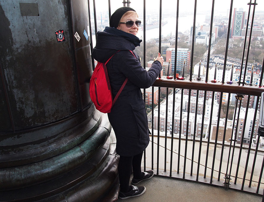 Hamburger Michel Sankt Michaelis Kirche Turm besteigen Treppen Alltagsabenteuer Alltagsabenteurer Freizeit Sonntag G-Star Jacke