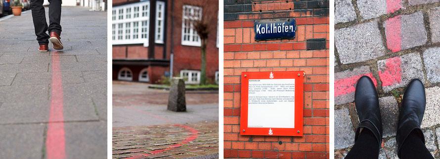 Hamburg Neustadt Hummel-Bummel Stadtrundgang rote Linie Freizeit Outdoor Alltagsabenteuer Alltagsabenteurer