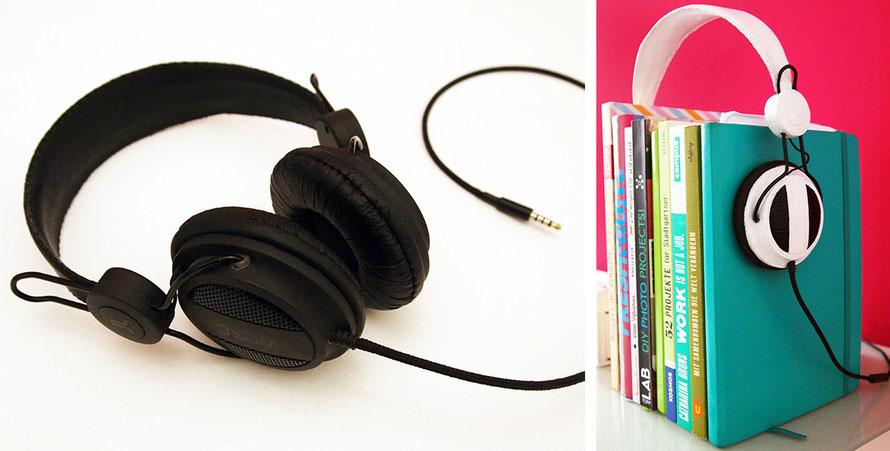 Upcycling DIY Handmade basteln Kopfhörer Wesc Bücher Buchstütze Lifehack Alltagsabenteuer Alltagsabenteurer