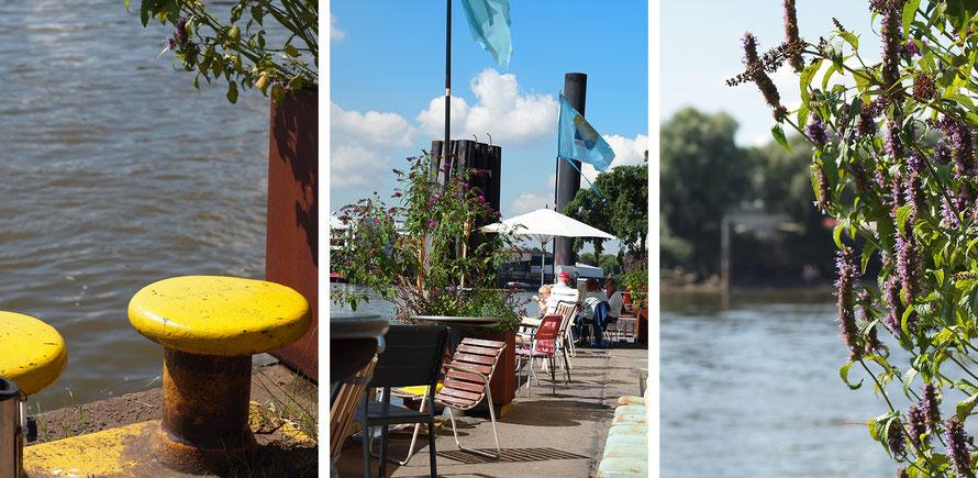 Entenwerder 1 Café Hamburg Freizeit Elbe Ponton Alltagsabenteuer Alltagsabenteurer