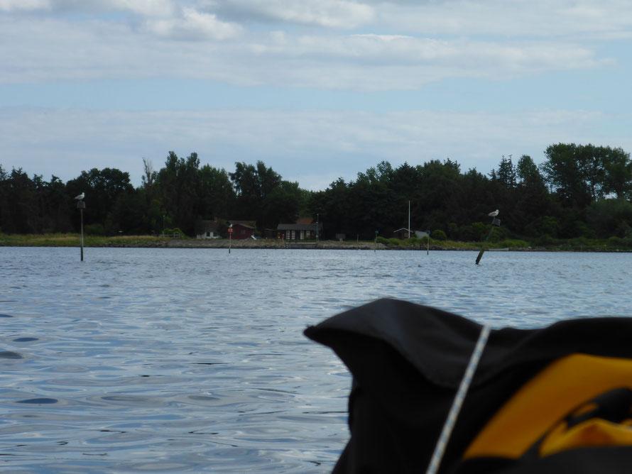 Das beschriebene Fahrwasser Drejö haven