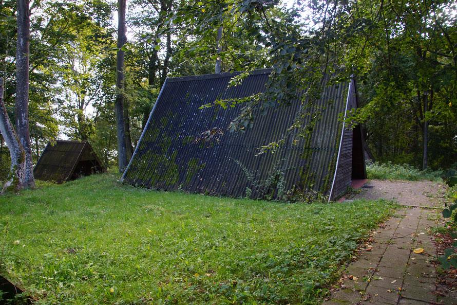 Die Finnhütten des wassersport Camps