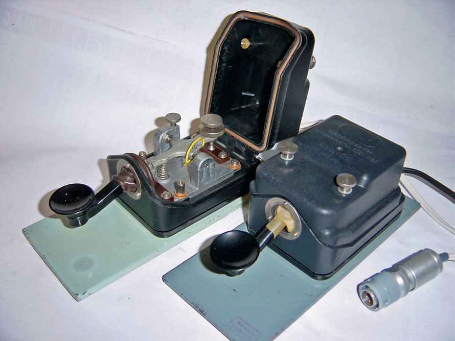 German - Standard Morse Key of the Volksmarine der DDR MT50. Flameproof  Key. Produced at Funkwerk Köpenick