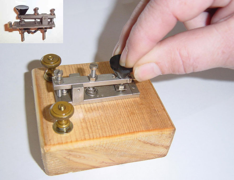 Mini key Made by J.H. Bunnell for the Western Electric Company.