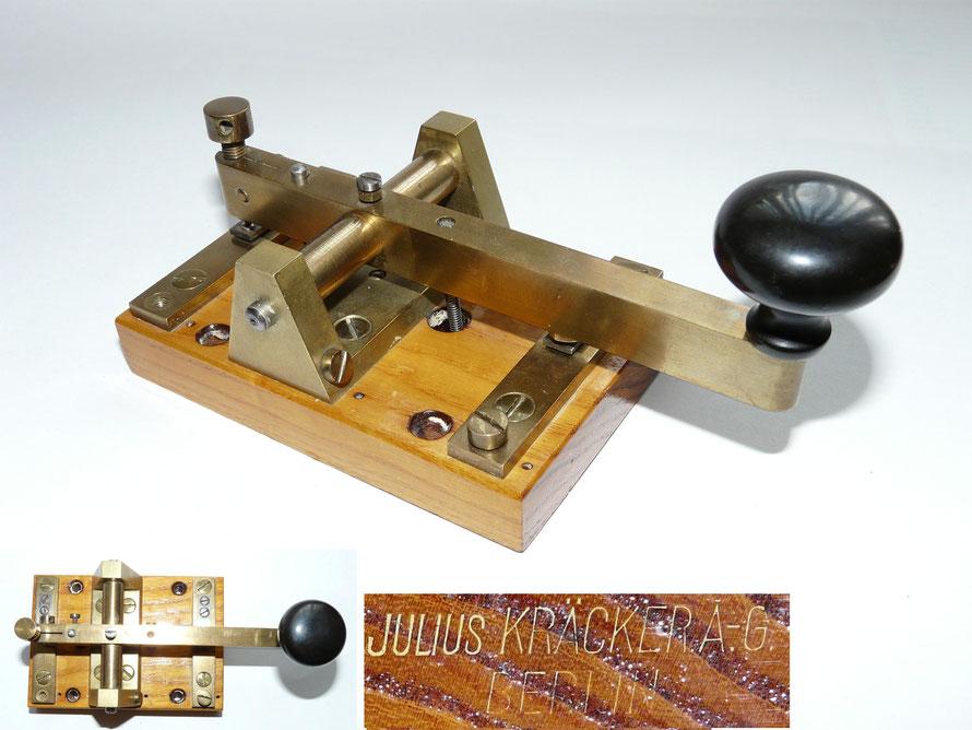 Morsetaste Made by Julius Kracker A-G Berlijn.