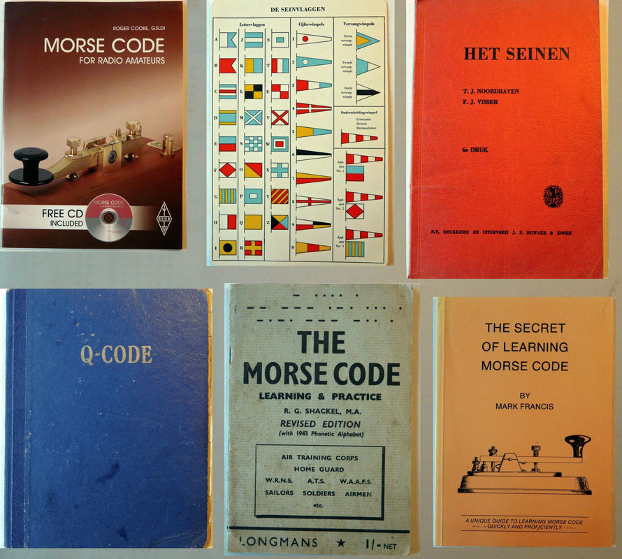 Boek Morse code and keys.