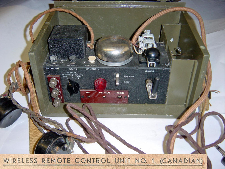 Wireless remote control Unit No 1. With Westclox  telegraph key. Dated 1942.