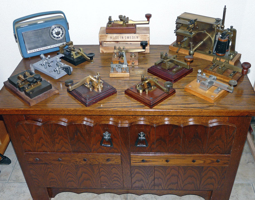 Morse key collection.
