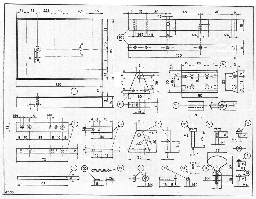 Diagram of a Dutch morse key.