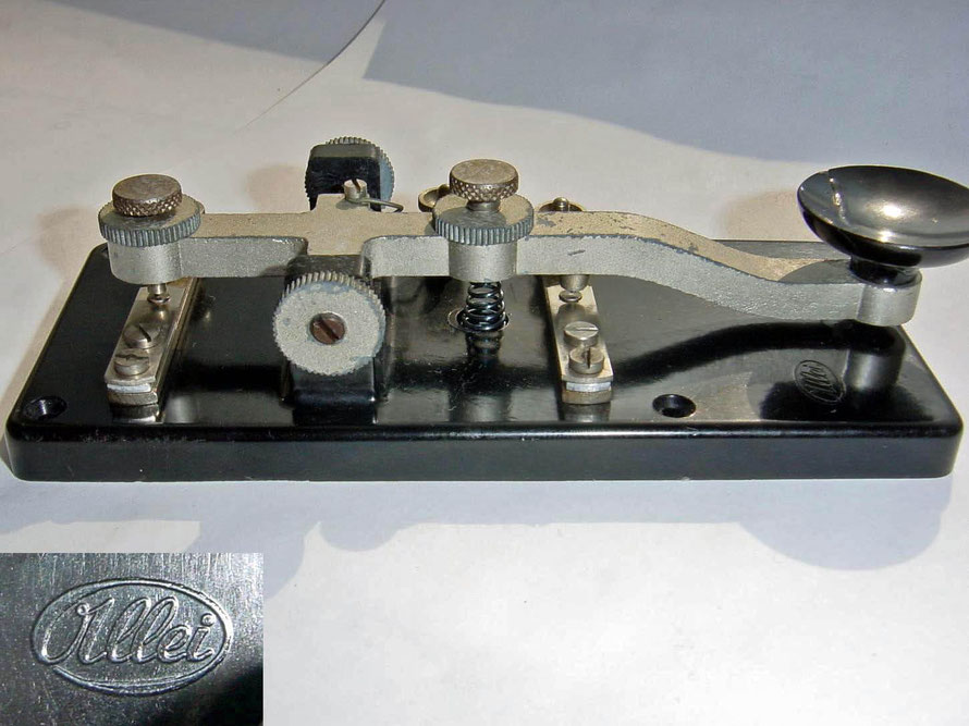 German - Morse Key Marked Allei. Made by Alfred Lindner, Leipzig