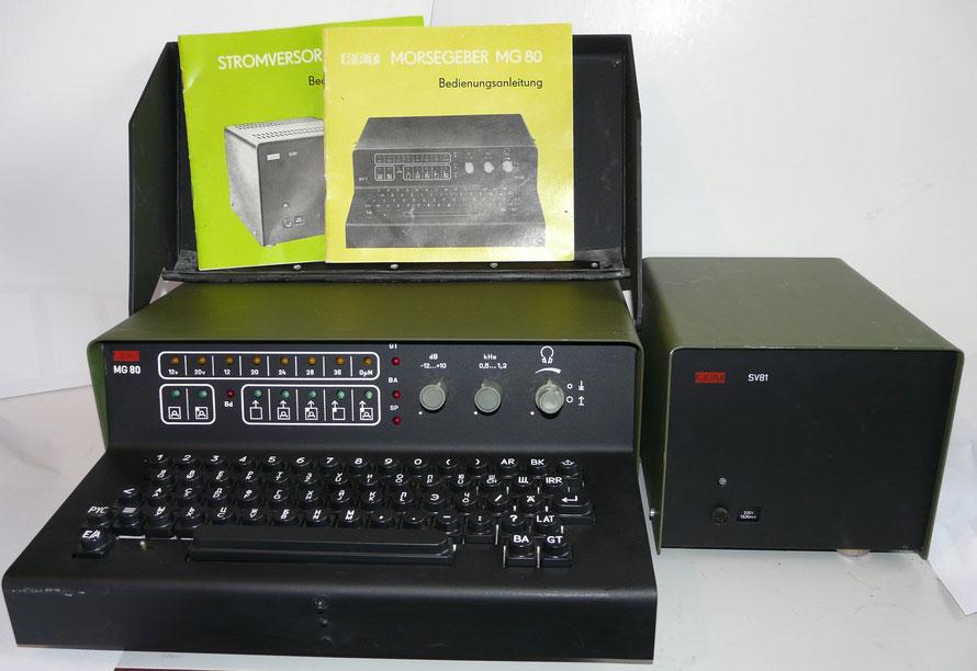 DDR. RFT Morsegeber MG 80.