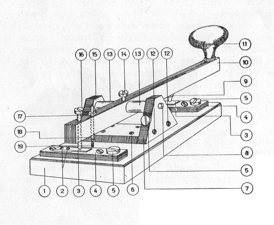 How to make a Morse Key.