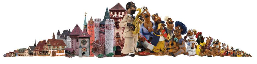 Lichthaus Dufthaus Räucherhaus Räucherfigur tonhaus Miniaturen