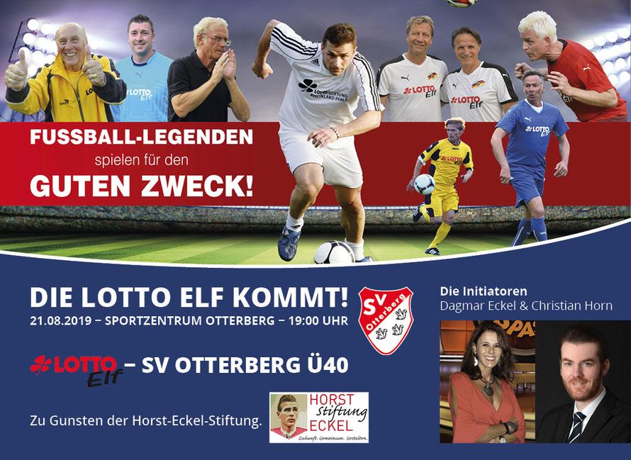 Die Lotto Elf spielt zu Gunsten der Horst Eckel Stiftung in Otterberg