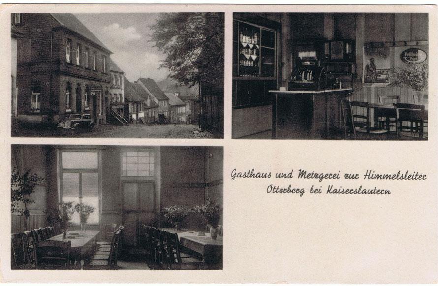 Postkarte von 1930, erhalten von G. Jörg