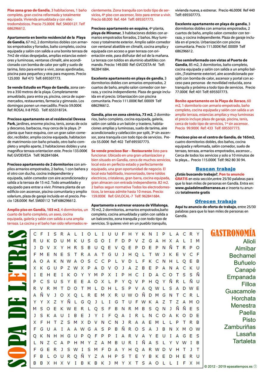 Guía del Mediterráneo, Anuncios clasificados en Gandía - Página 3