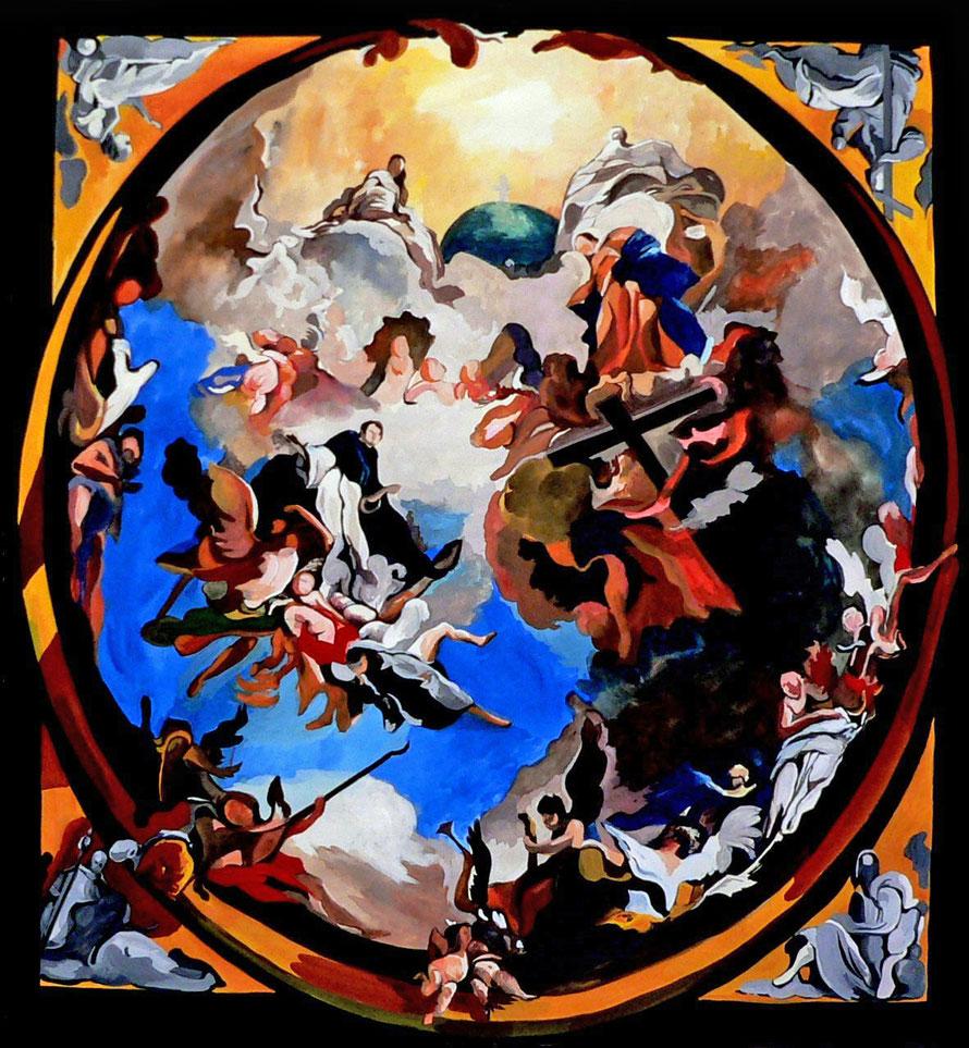 Gloire de Dominique 1 - Gouache/papier - 70 x 70