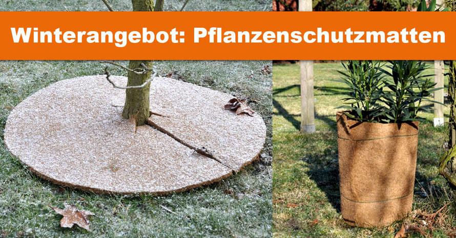 Planzenschutzmatten, Winterschutzmatten, Kokos Pflanzenschutz, Beckland