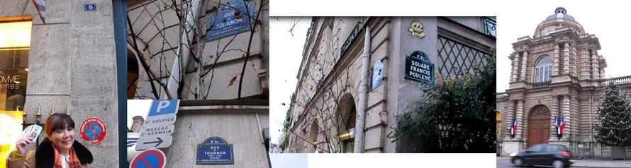 元老院前のスクエアからセーヌ通りに抜けるルー トルノンをまっすぐ歩いてくると右手にナンバー5の建物が見えて来る、ここにサロンがあった。