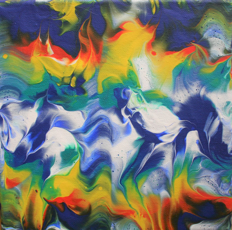 "AURORA (134) | Acrylic on 8"" x 8"" canvas | Gloss Varnish Finish | £30.00 incl. p&p (UK only)"
