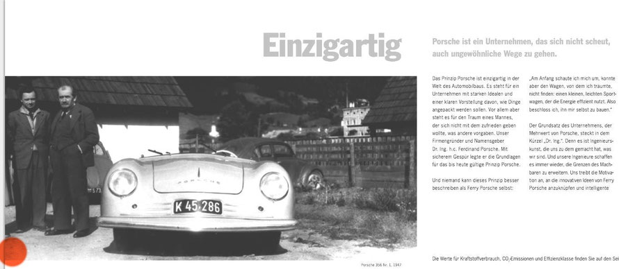 The Porsche Principle - commercial prospect: Picture of Komenda is cut from the original picture - this is how the company treated their first designer